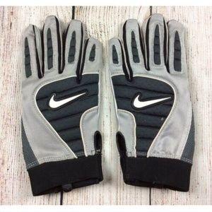 Nike Dri Fit Superbad Gloves Silver Black Grip